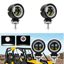 Pair 3inch 20W LED Driving Lights Spot Round Spotlights Black Offroad 4x4 6000K