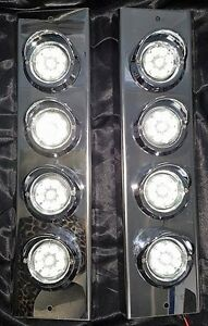"""Mirror Stainless - C/W 2"""" Grommet Lights to suit Kenworth, Mack and Western Star"""