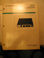 Manual for Motorola PAC-RT FM Mobile Repeater System Lot 2