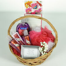 All Occasion Gift Basket for Women, Girls, Teens - Pink, Butterflies, Spa Basket