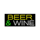 """NEW """"BEER & WINE"""" 27x11 SOLID & ANIMATED LED SIGN W/CUSTOM OPTIONS 21360"""