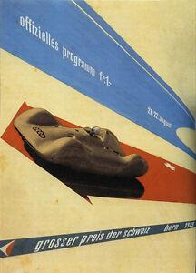 Grosser Preis der Schweiz Bern 1939 Vintage Race Poster