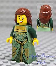 NEW Lego Kingdoms FEMALE PRINCESS MINIFIG - Girl w/Brown Hair Castle Dress 10223