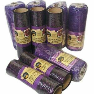 Lot Of 10 Crafters Square Decorative Mesh Halloween Purple Black w/ Purple Web