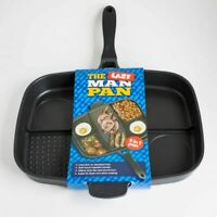 The Lazy Man Master Pan Non-Stick Frying Multi Section 5 in 1 Grill Breakfast