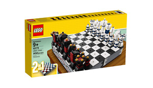 New Lego 40174 Iconic Chess & Checkers Set-Immediate Shipping!