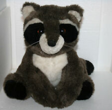 "Vintage Dakin Racoon Brown Plush Stuffed Toy 10.5"" Tall 1986 Wildlife Animal"