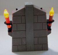 2 x RITTERBURG WAND FACKEL MIT LED LICHT + VERBINDER - TOLLER EFFEKT ! PLAYMOBIL
