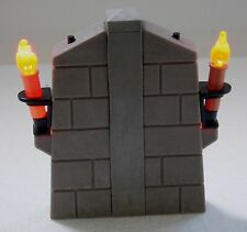2 X Knight Castle Wall Torch With LED Light + Connector - Great Effect!