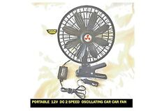PORTABLE 12V DC 2 SPEED OSILLATING CAR FAN FOR BOATS