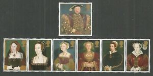 GB 1997 THE GREAT TUDOR HENRY VIII & WIVES 450TH ANNIVERSARY ROYALTY SET MNH