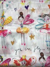 Girls Shower Curtain Faerie Princess Fairy Ballerinas Colorful CREATIVE BATH NEW