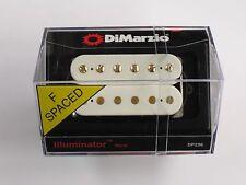 DiMarzio F-spaced Illuminator Neck Humbucker White W/Gold Poles DP 256