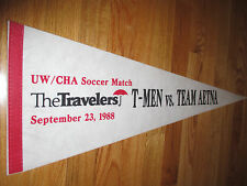 Travelers UW / CHA Soocer Match T-MEN vs TEAM AETNA (September 23, 1988) Pennant