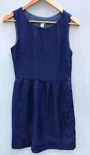 J Crew Dress XS Blue Sheath Sleeveless 2 Factory Summer Career Cobalt