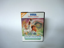 WIMBLEDON complete in box with manual Sega Master System videogame