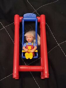 "Barbie Kelly Baby Swing Set Toy 4"" Mcdonalds Mattel Vintage 1999"