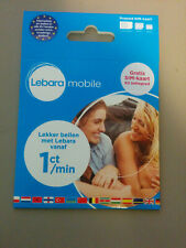 (Lot of 100) Lebara NL Prepaid Karte || 3 in 1 Sim || Anonym & Aktif