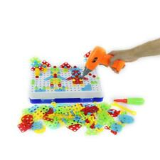 240pcs Electric Drill Puzzle Disassembly Assembled Kid Educational Jigsaw Toy US