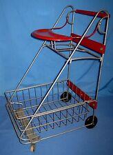 VTG Amsco Child's Metal Shopping Cart Removeable Basket Doll Stroller Carriage!