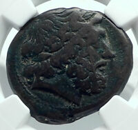 MESSANA in SICILY under MAMERTINI Authentic Ancient 208BC Greek Coin NGC i78675