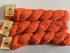 LOT of 3 Knit One Crochet Too Cozette 2 #338 Tangerine Fine Silk Cotton Bl Yarn