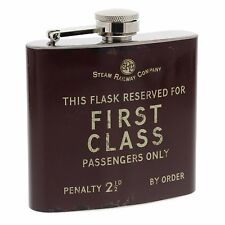 1st First Class passengers hipflask brown Harvey Makin Railway 5oz Fathers Day