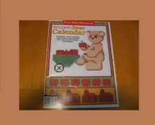 FROLICKING BEAR CALENDAR 1991   -   CROSS STITCH  LEAFLET/BOOK