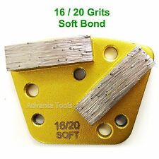 Trapezoid HTC Style Grinding Shoe / Disc / Plate - Soft Bond - 16/20 Grit
