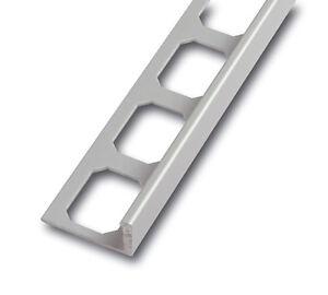 13 x Fliesenprofil - Abschlußprofil - Aluminium - silber eloxiert, Alu matt