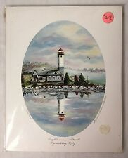 Lighthouse Point NY Print Signed Numbered Limited Edition Laurel Blair Roethel