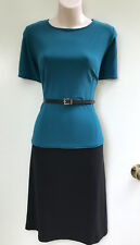 LEONA EDMISTON *Frocks* Two Tone Stretch Short Sleeve Dress sz 3/14