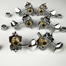 6Guitar Tuning Pegs machine head Genuine Grover V97C 3 x 3 Open Gear 14:1