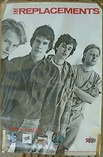 RARE THE REPLACEMENTS 1985 VINTAGE ORIGINAL MUSIC RECORD STORE PROMO POSTER