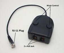 Headset Box for IPC & BT Dealerboard Handset 1 RJ11 plug to dual RJ9 female Jack