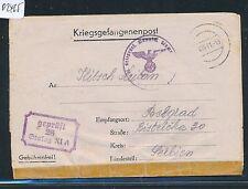 02465) KRIEGSGEFANGENENPOST STALAG XI A 1941 anciens. Grabow double-censure > La Serbie
