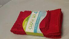 Microfiber Utility Cloth Clean Polish Set Red Check Pattern New 4 Pk Set Gift A6