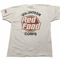 Vintage Red Food Corps T Shirt Size Large Store Volunteer 80s 90s Usa Made