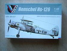 VECTOR-1/48- HENSCHEL HS-126 RECON AIRCRAFT