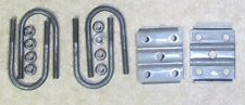 """4 of Trailer axle u-bolts 2 3/8 i.d x 1/2"""" with nuts and plate for springs 1.75"""""""