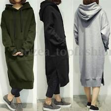 Hot/Women's Long Sleeve Loose Casual Plus Sweatshirt Hoodies Long Maxi Dress**