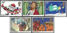 Great Britain 1981 CHRISTMAS, CHILDREN'S PAINTINGS Unhinged Mint (4) SG1170-4
