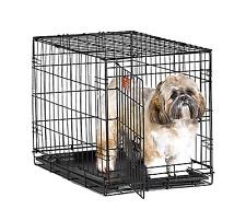 "Dog Pet Crates crate Single Door Training Iron Travel Cage Cat Small 24"""