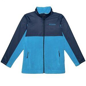 Columbia Fort Rock II Hybrid Color-Block Fleece & Nylon Jacket, Boys S,M, L