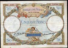 50 francs Luc Olivier MERSON;30.10.1930;FAY16/1;3 épinglages (7 trous) seulement
