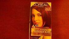 4 BOXES   LOREAL PARIS SUPERIOR PREFERENCE RR04 INTENSE DARK RED   HAIR COLOR