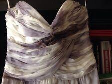 Truese Prom Maxi Grey Lilac Strapless Dress Size S