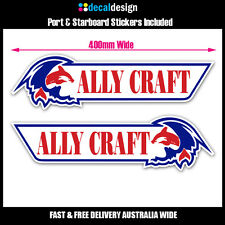 Ally Craft 40cm boat stickers x2 port & starboard decals for tinnie dinghy #A003