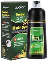 2 Bottles (500ml) Augeas Herbal 3 In 1 Hair Dye Shampoo (Black) EXPRESS DHL