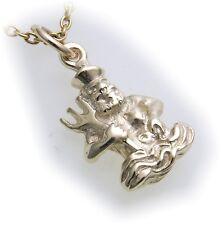 colgante de signo del Zodíaco HOMBRE AGUA ORO Auténtico 585 sólido zodiaco